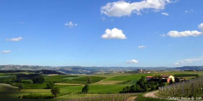 Paesaggio di Langa in primavera